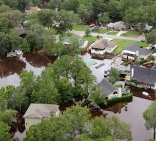 Flooded California Neighborhood